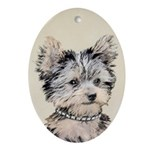 Yorkshire Terrier Puppy Oval Ornament