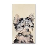 Yorkshire Terrier Puppy Rectangle Car Magnet