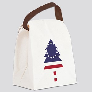 Betsy Ross Flag Pine Tree Canvas Lunch Bag