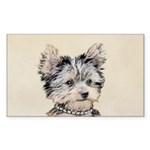 Yorkshire Terrier Puppy Sticker (Rectangle 10 pk)