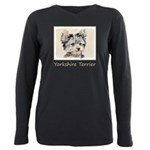 Yorkshire Terrier Puppy Plus Size Long Sleeve Tee