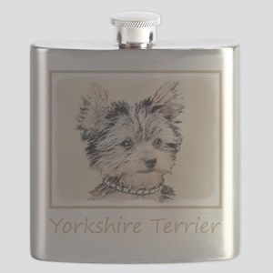 Yorkshire Terrier Puppy Flask
