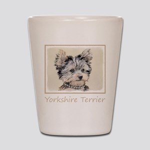 Yorkshire Terrier Puppy Shot Glass