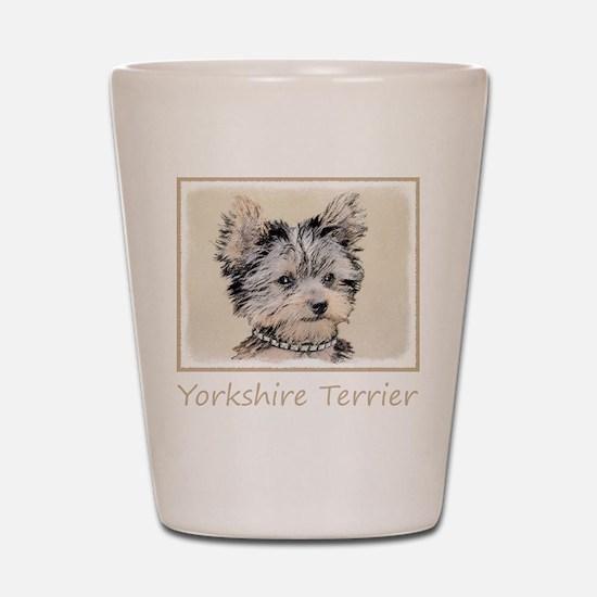 Yorkshire Terrier Puppy Shot Glass