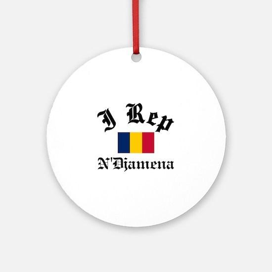 I rep NDjamena Ornament (Round)