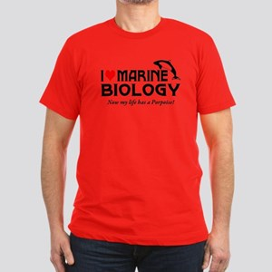 I Love Marine Biology Men's Fitted T-Shirt (dark)