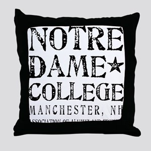 Notre Dame College Throw Pillow