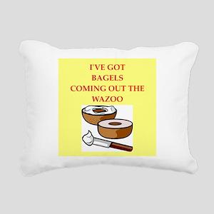 bagels Rectangular Canvas Pillow