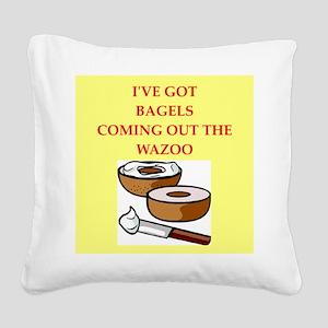 bagels Square Canvas Pillow