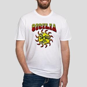 Sicilia Trinacria Sicilian Fitted T-Shirt