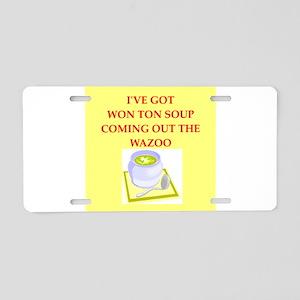 won ton soup Aluminum License Plate
