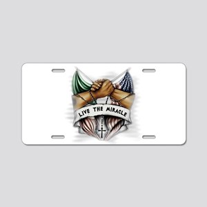Live the Miracle Aluminum License Plate