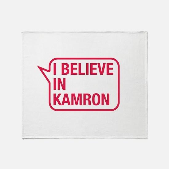 I Believe In Kamron Throw Blanket