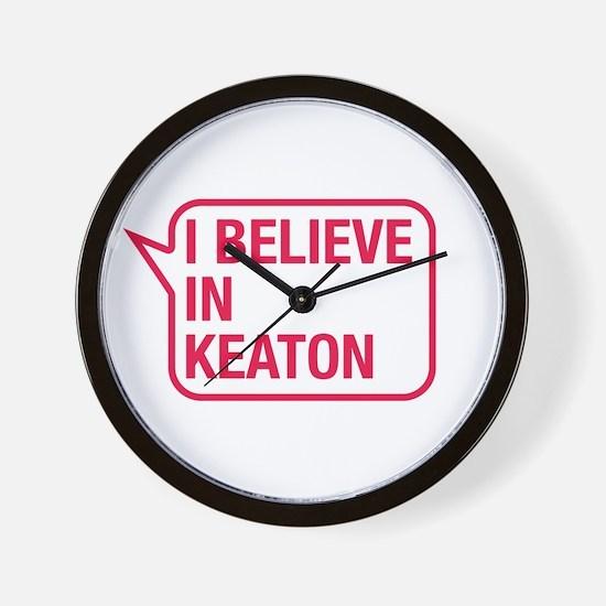 I Believe In Keaton Wall Clock