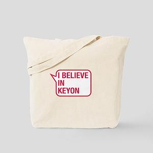 I Believe In Keyon Tote Bag