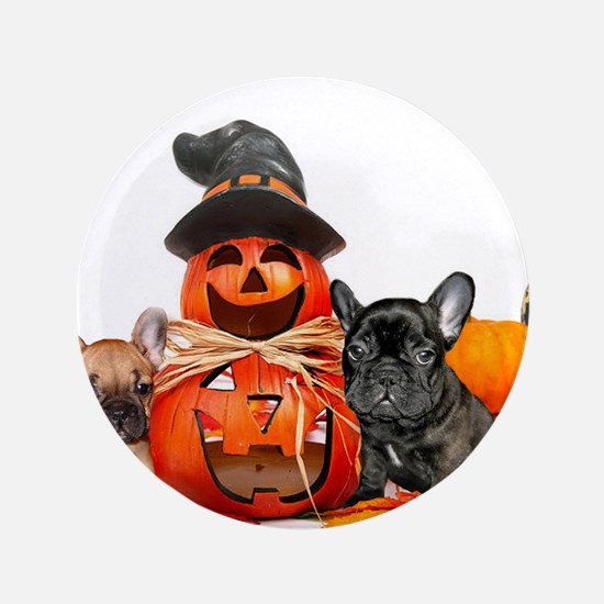"Halloween French Bulldogs 3.5"" Button"