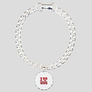 I love my Yemeni Wife Charm Bracelet, One Charm