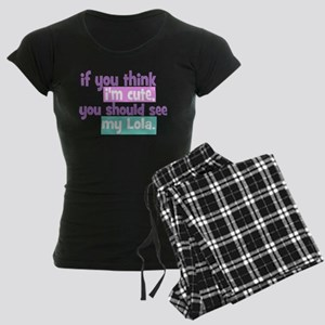 If you think I'm Cute - Lola Women's Dark Pajamas