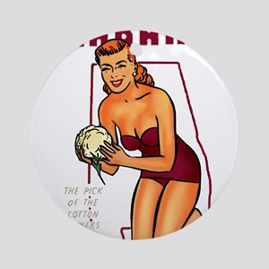 Vintage Alabama Pinup Ornament (Round)