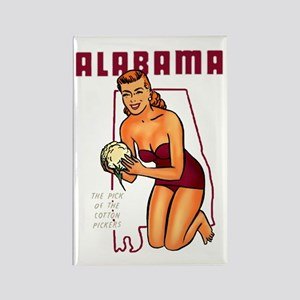 Vintage Alabama Pinup Rectangle Magnet