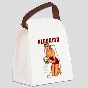 Vintage Alabama Pinup Canvas Lunch Bag