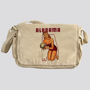 Vintage Alabama Pinup Messenger Bag
