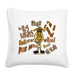 Funny Camel HumpDay -Light Square Canvas Pillow