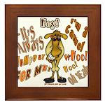Funny Camel HumpDay -Light Framed Tile