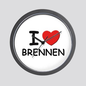 I love Brennen Wall Clock