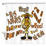 Funny Camel HumpDay -Light Shower Curtain