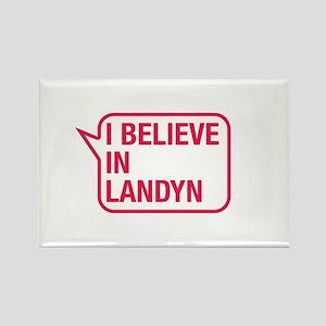 I Believe In Landyn Rectangle Magnet