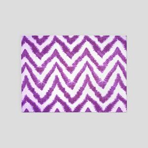 Funky Fuzzy Purple Zigzags 5'x7'Area Rug