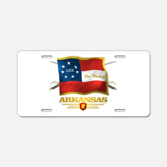 Arkansas -Deo Vindice Aluminum License Plate