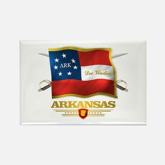 Arkansas -Deo Vindice Rectangle Magnet