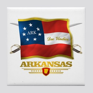 Arkansas -Deo Vindice Tile Coaster