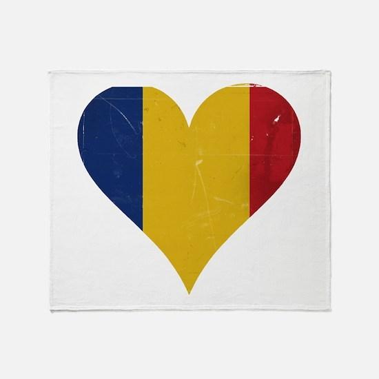 Romania heart Throw Blanket