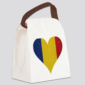 Romania heart Canvas Lunch Bag