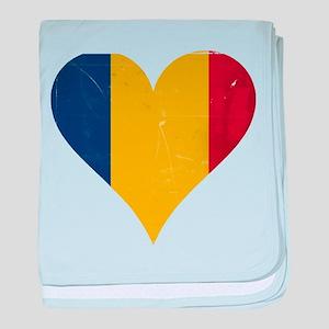 Romania heart baby blanket