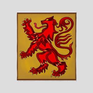 Scots Lion Throw Blanket
