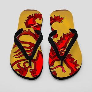 Scots Lion Flip Flops