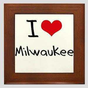 I Heart MILWAUKEE Framed Tile