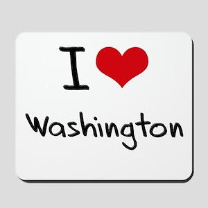I Heart WASHINGTON Mousepad