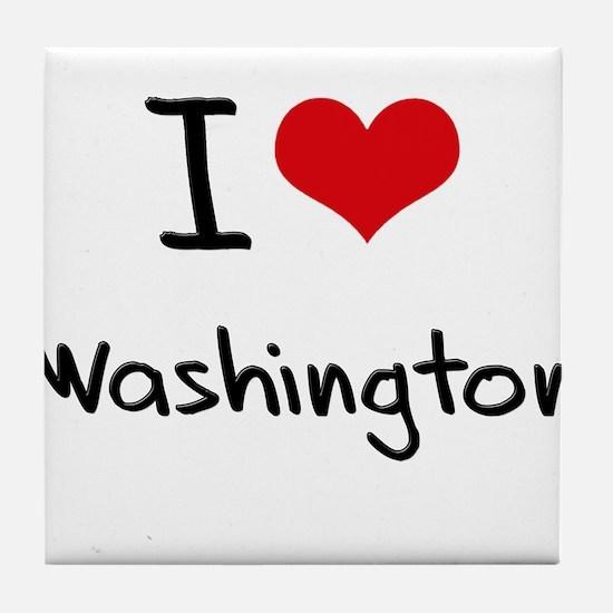 I Heart WASHINGTON Tile Coaster