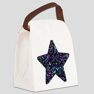 Canvas Lunch Bag Mosaic Glitter Star 1