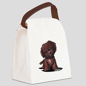 Shih Tzu Chocolate Canvas Lunch Bag