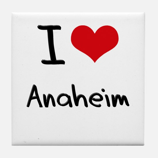 I Heart ANAHEIM Tile Coaster