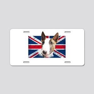 Bull Terrier UK grunge flag Aluminum License Plate