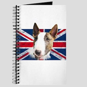 Bull Terrier UK grunge flag Journal