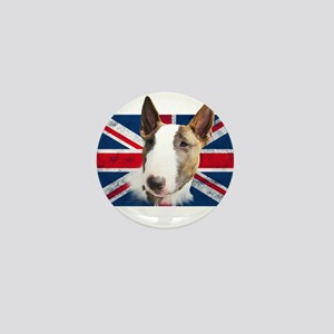 Bull Terrier UK grunge flag Mini Button