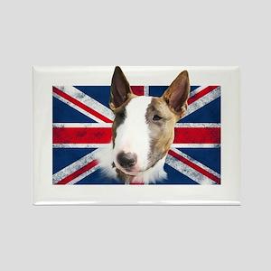 Bull Terrier UK grunge flag Rectangle Magnet